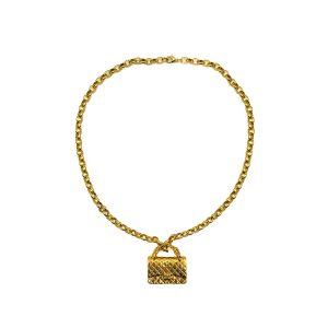 Vintage Chanel 2.55 Bag Necklace