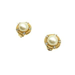 Vintage Ciner Pearl Earrings