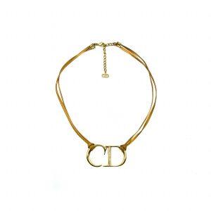 Vintage Dior CD Leather Necklace