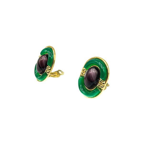 Vintage Dior Deco Earrings