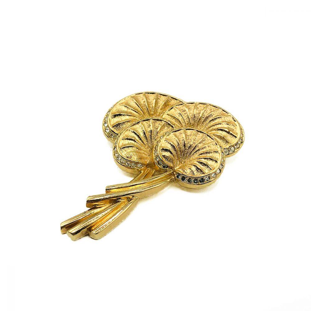 Vintage Dior Palm Leaf Brooch