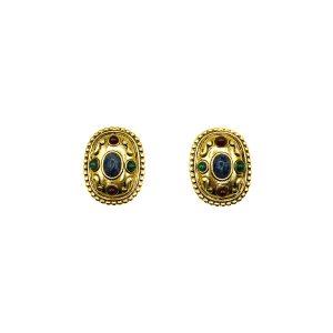 Vintage Etruscan Earrings