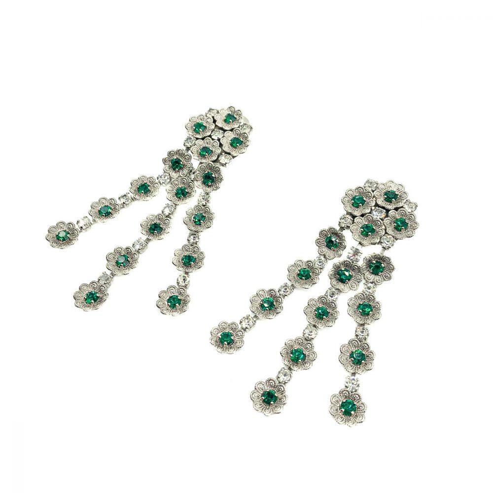 Vintage Floral Cascade Earrings