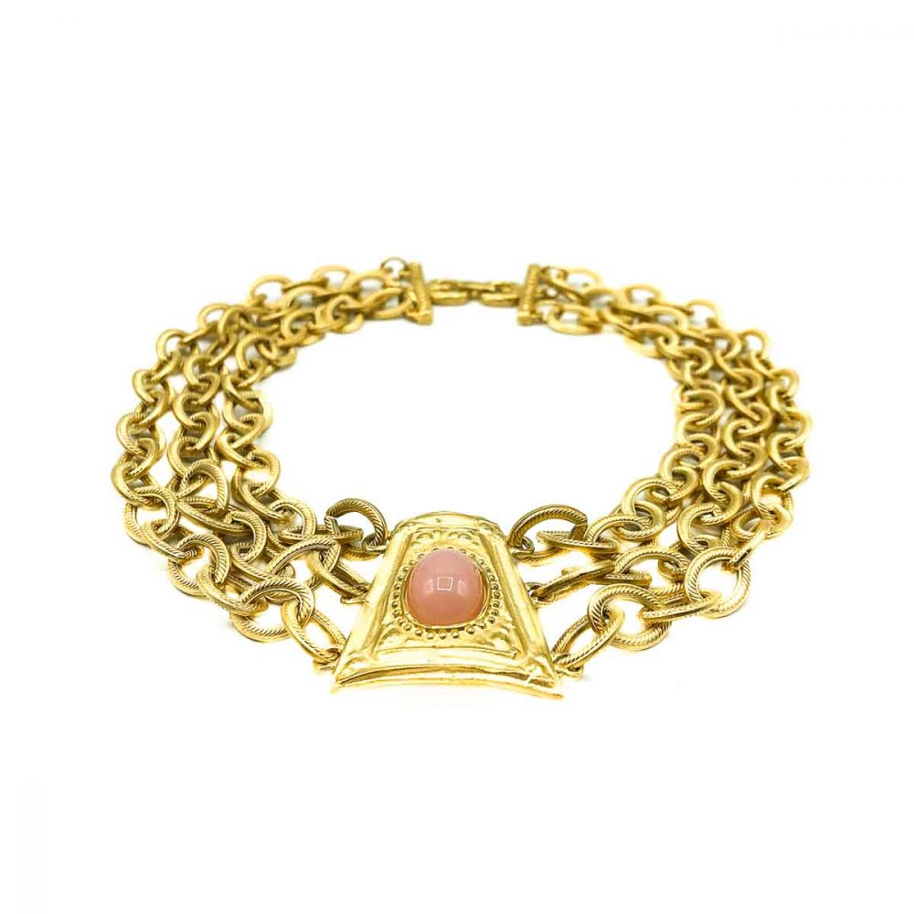Vintage Givenchy Coral Byzantine Collar