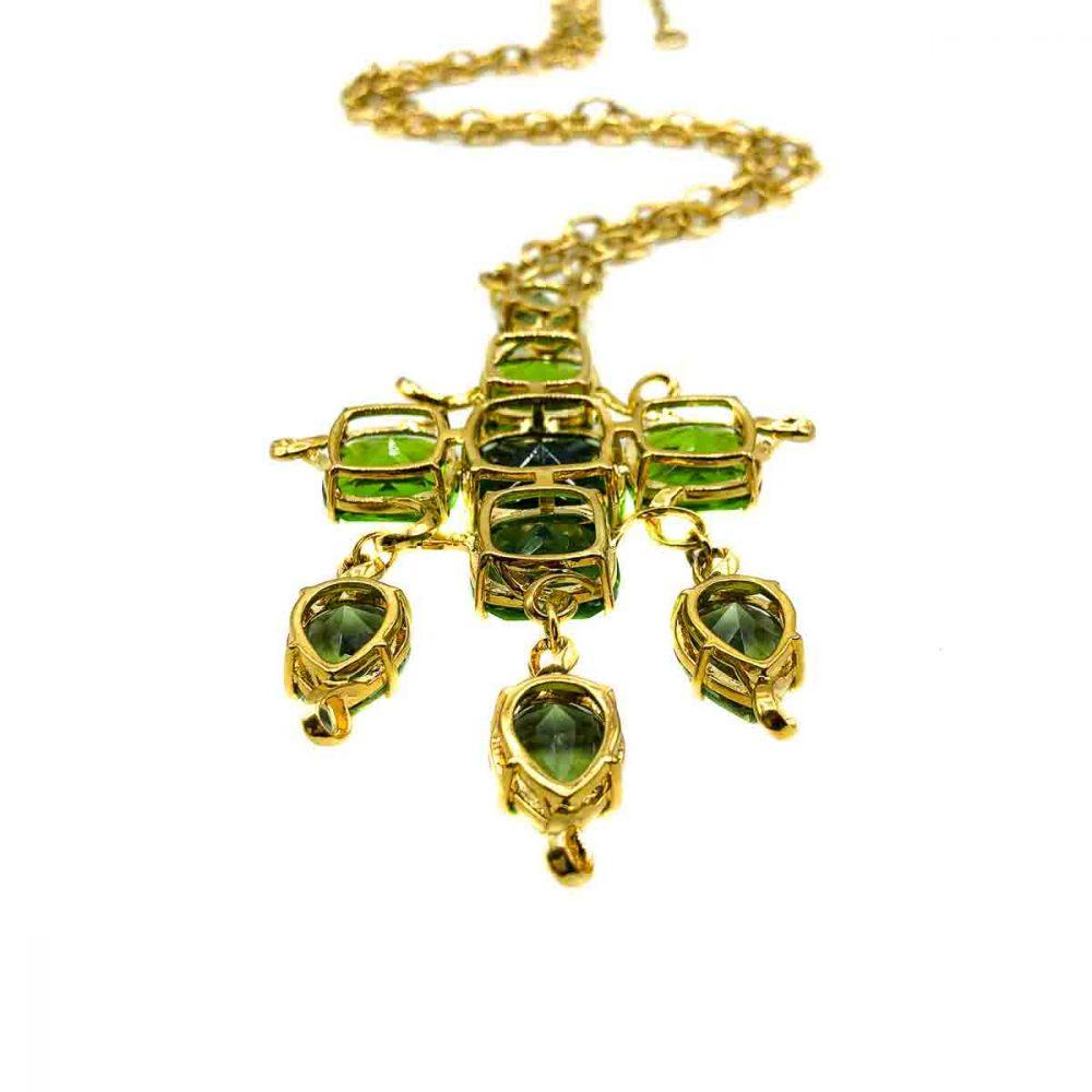 Vintage Givenchy Crystal Cascade Necklace