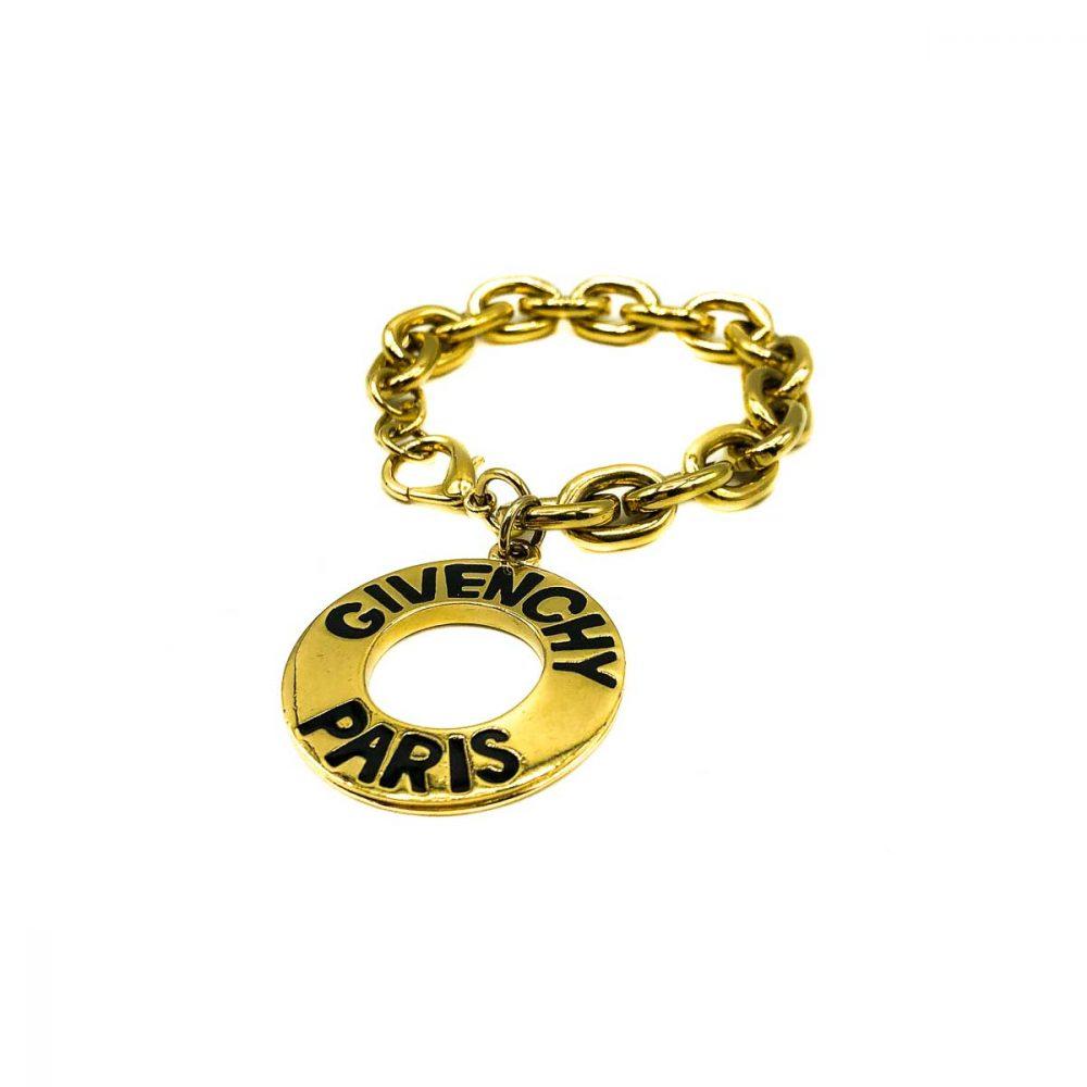 Vintage Givenchy Logo Charm Bracelet