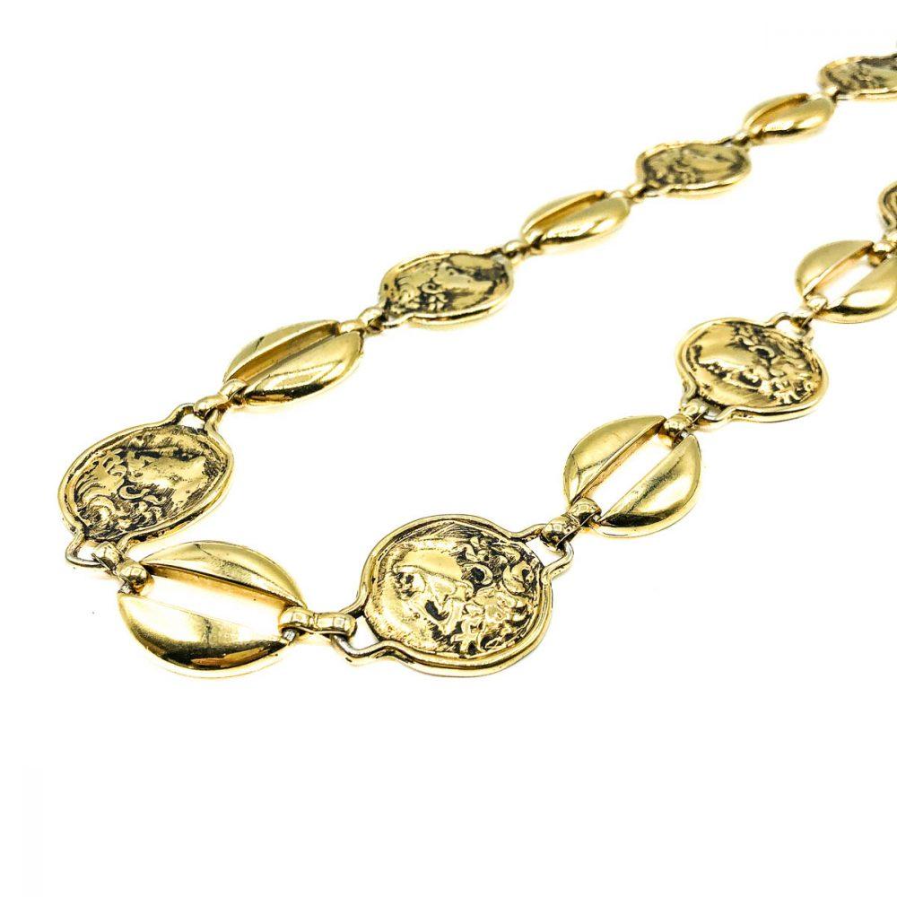 Vintage Gold Medallion Belt