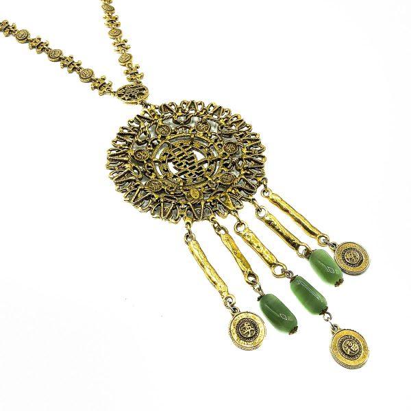 Vintage Goldette Chinese Medallion Necklace