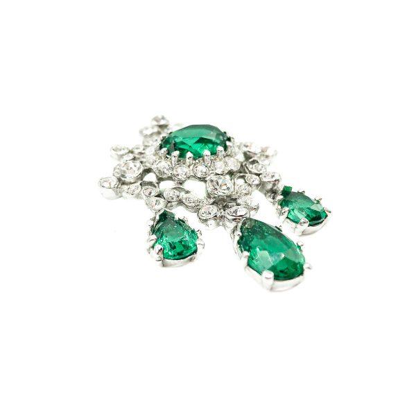 Vintage Mitchel Maer Emerald Brooch