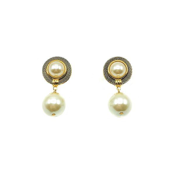 Vintage Pearl Droplet Earrings
