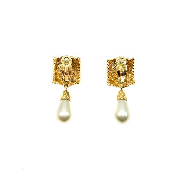 Vintage Pearl Matelasse Earrings
