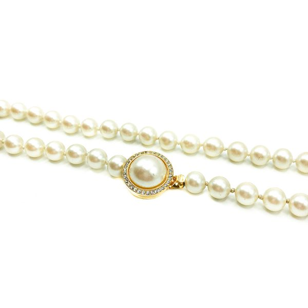 Vintage Pearl Matinee Necklace