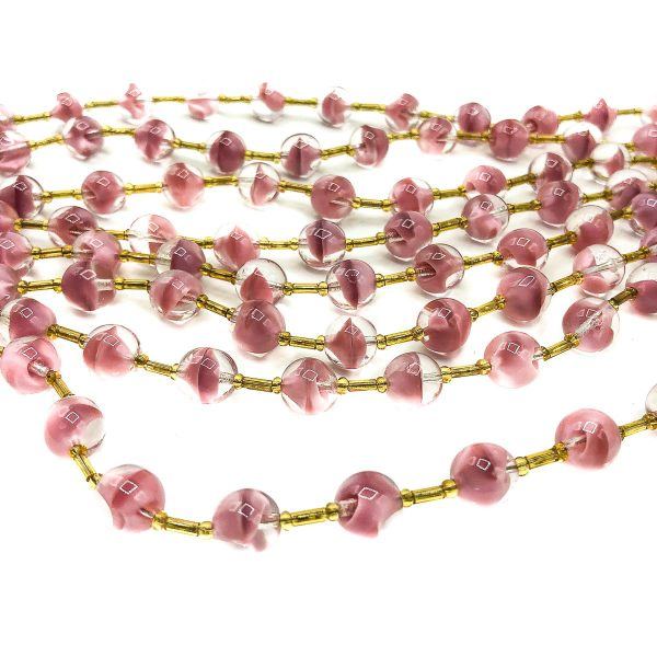 Vintage Pink Art Glass Collar
