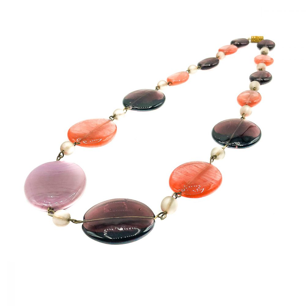 Vintage Sweetie Glass Necklace