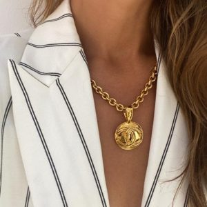Vintage Chanel Byzantine CC Necklace