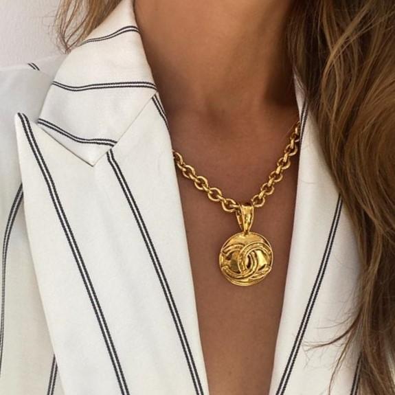 Vintage Chanel Byzantine CC Necklace