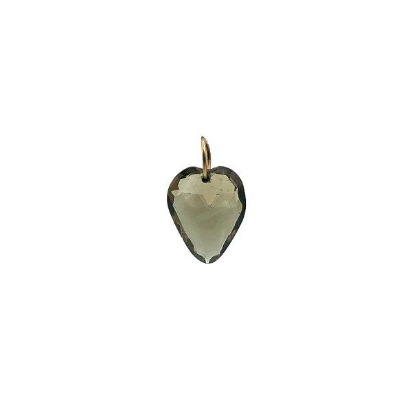 Antique Gold and Natural Quartz Heart