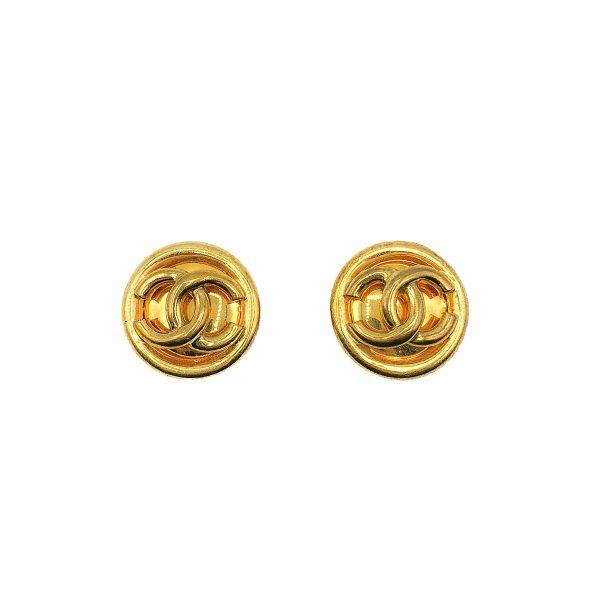 Vintage Chanel CC Logo Earrings