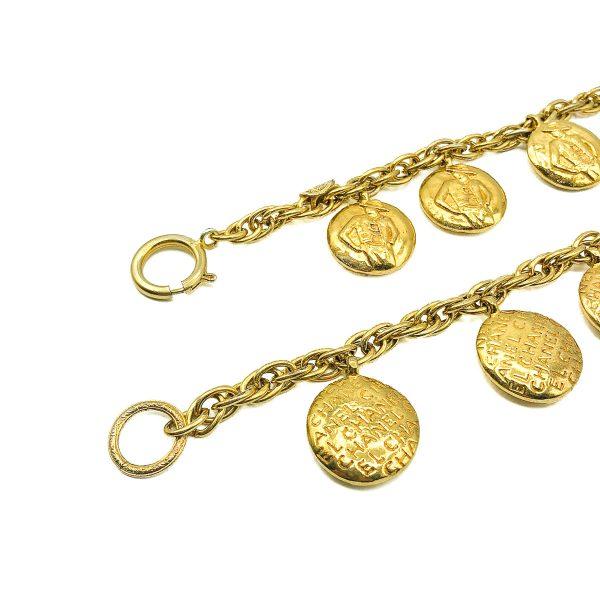 Vintage Chanel Coco & Monogram Necklace