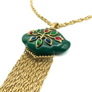 Vintage Crown Trifari Persian Garden Necklace