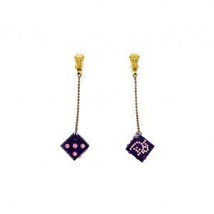 Vintage Dior Galliano Dice Earrings
