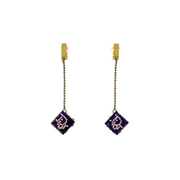 Vintage Dior Galliano Dice Earrings