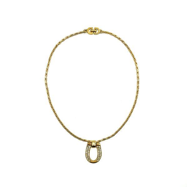 Vintage Dior Horseshoe Necklace