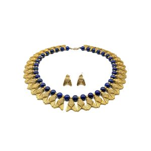Vintage Egyptian Revival Lapis Collar
