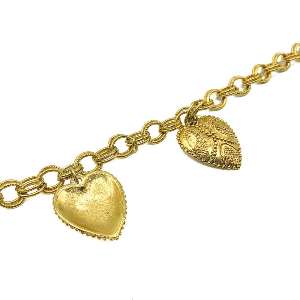 Vintage Gold Heart Necklace