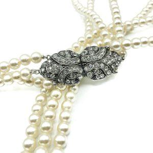 Vintage Pearl Triple Rope Necklace