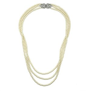 Vintage Pearl Triple Rope Necklace
