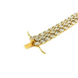 Silver Gilt Crystal Bracelet