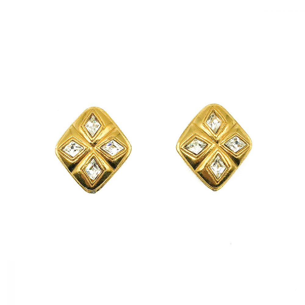 Vintage Chanel Diamond Earrings
