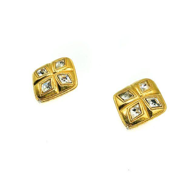 Vintage Chanel Diamond Earrings
