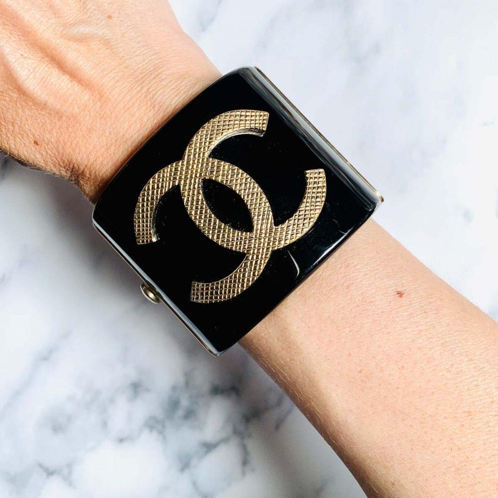 Vintage Chanel Logo Cuff