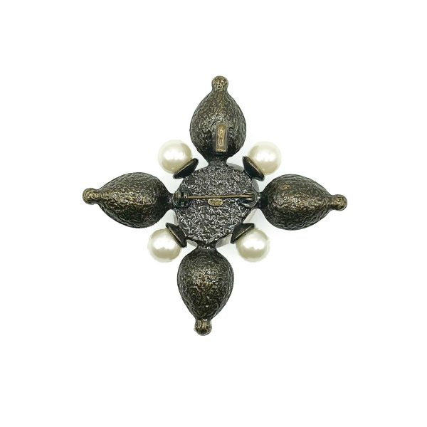 Vintage Chanel Pearl Crystal Brooch