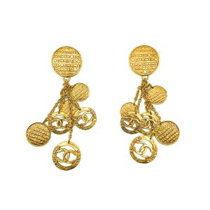 Vintage Chanel Tumbling Logo Earrings