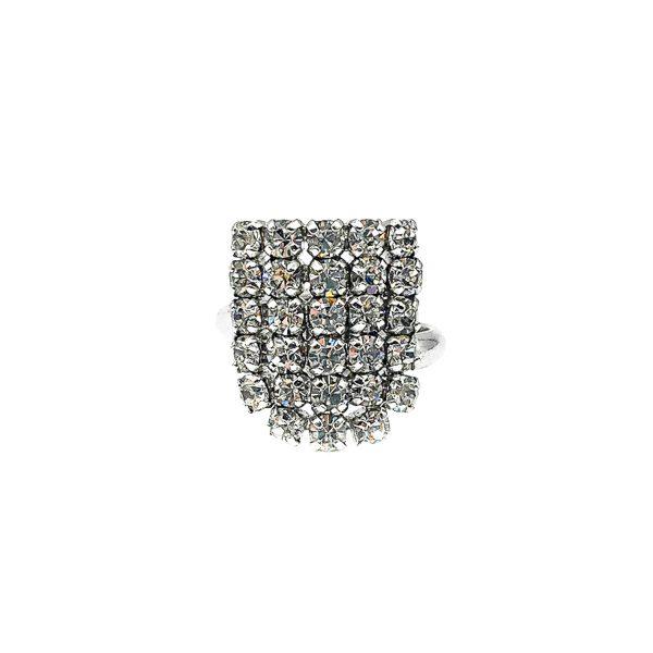 Vintage Dior Crystal Cocktail Ring