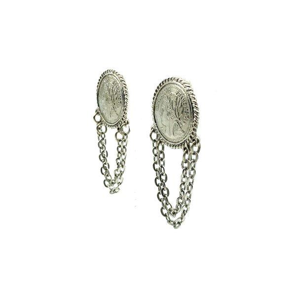 Vintage Coin Earrings