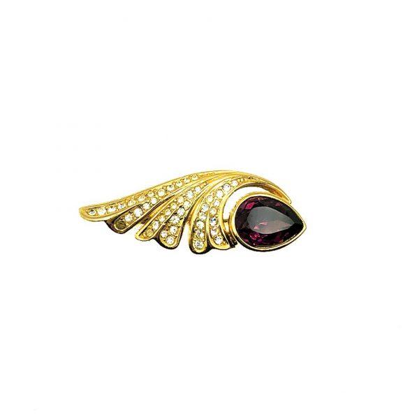 Vintage Dior Amethyst Brooch