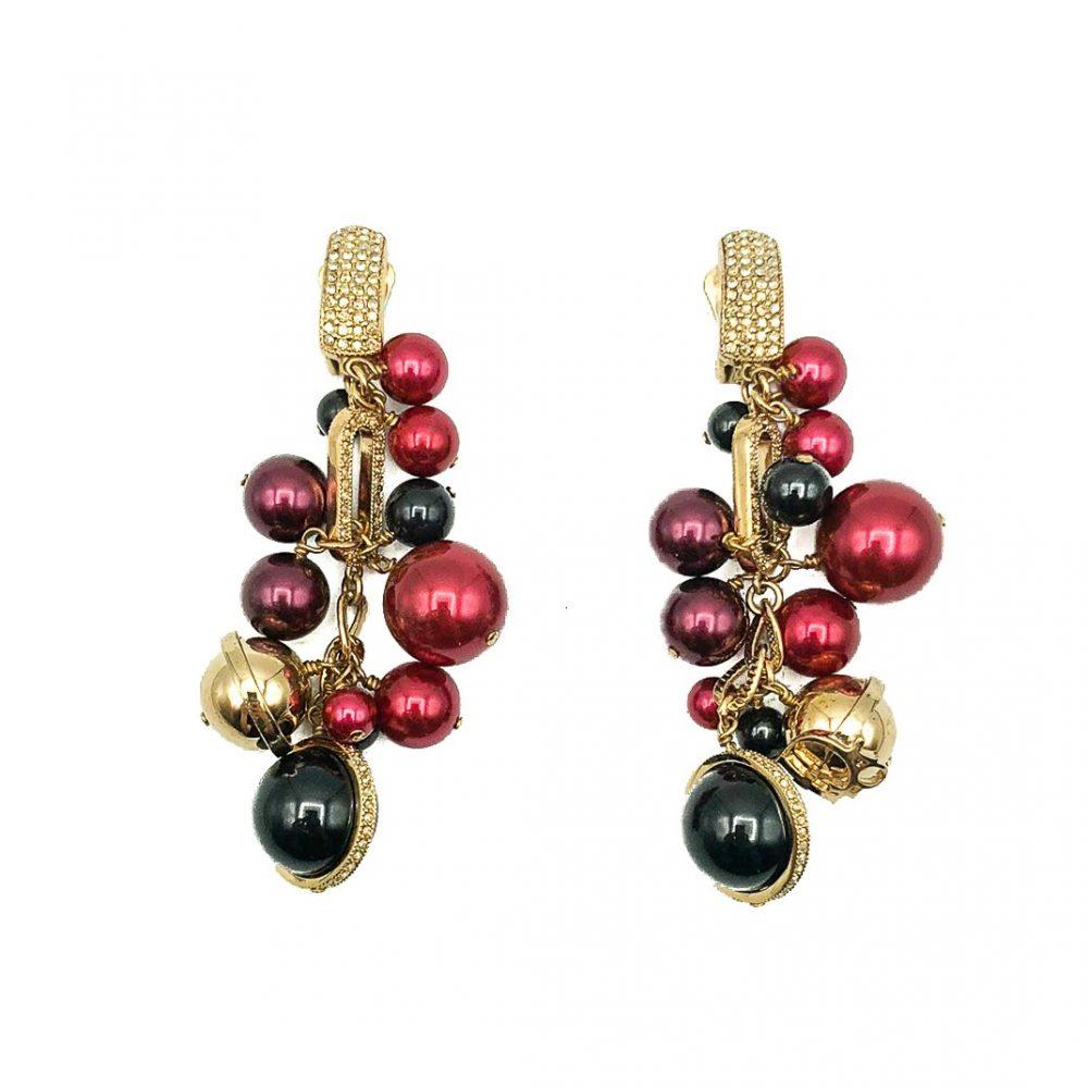Vintage Dior Sphere Earrings