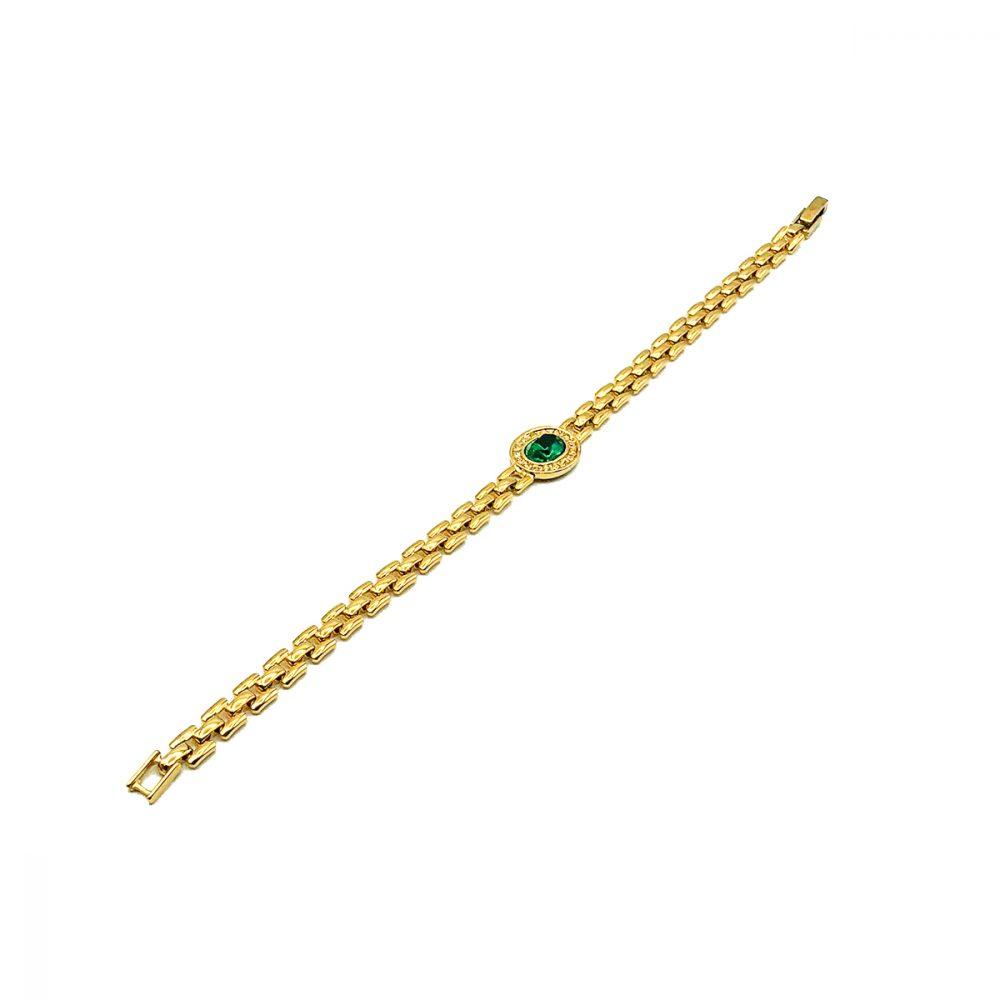 Vintage Emerald Crystal Bracelet