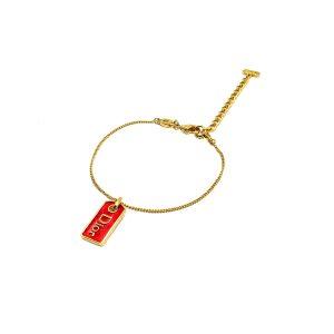 Vintage Dior Enamel Tag Bracelet