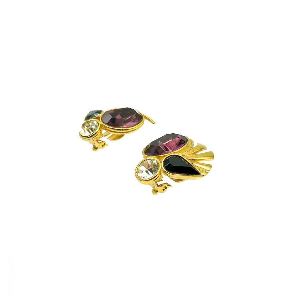 Vintage Givenchy Amethyst Earrings