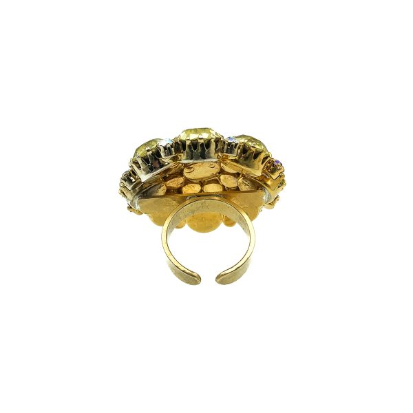 Vintage Lemon Cocktail Ring