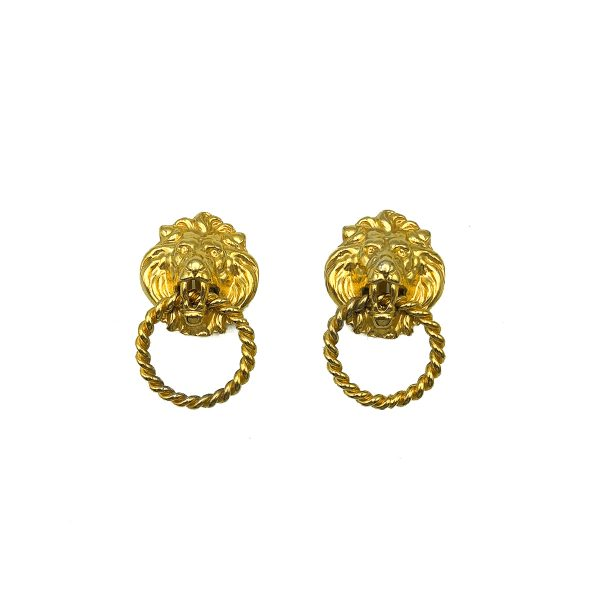 Vintage Lion Knocker Earrings