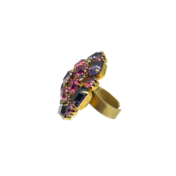 Vintage Pink Crystal Ring