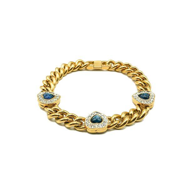 Vintage Sapphire Crystal Bracelet