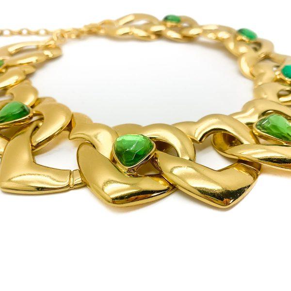Vintage Yves Saint Laurent Heart Necklace
