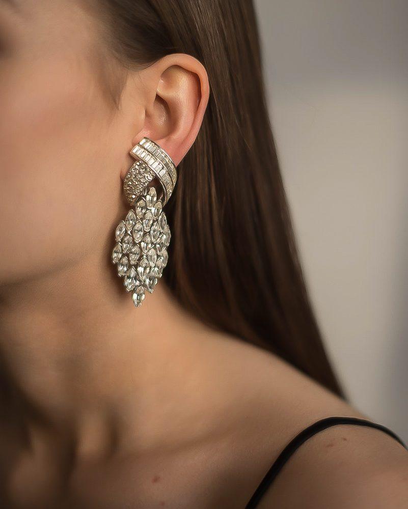 Jennifer Gibson Vintage Jewellery Vintage Ciner Deco Style Earrings